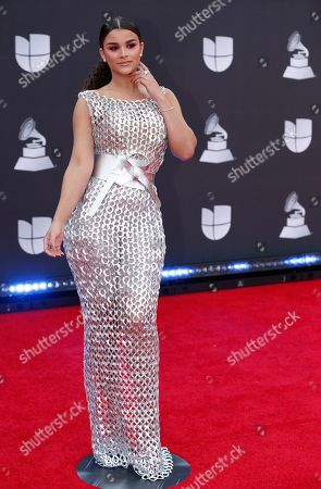 Clarissa Molina arrives at the 20th Latin Grammy Awards, at the MGM Grand Garden Arena in Las Vegas
