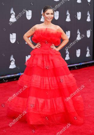 Chiquinquira Delgado arrives at the 20th Latin Grammy Awards, at the MGM Grand Garden Arena in Las Vegas