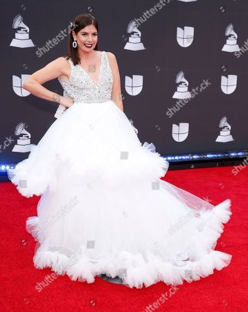 Stock Picture of Fernanda Kelly arrives at the 20th Latin Grammy Awards, at the MGM Grand Garden Arena in Las Vegas
