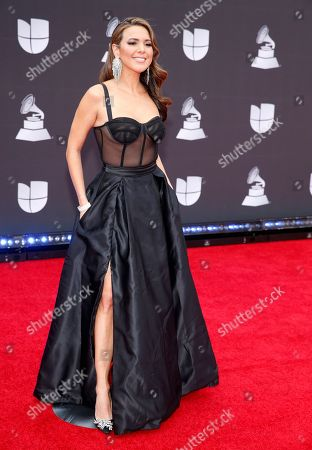 Stephanie Bradford arrives at the 20th Latin Grammy Awards, at the MGM Grand Garden Arena in Las Vegas