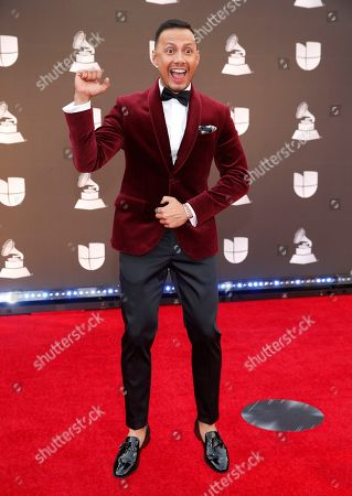 Luis Sandoval arrives at the 20th Latin Grammy Awards, at the MGM Grand Garden Arena in Las Vegas