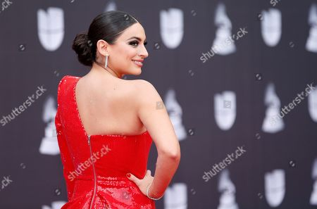 Ana Brenda Contreras arrives at the 20th Latin Grammy Awards, at the MGM Grand Garden Arena in Las Vegas