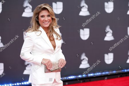 Chef Lorena Garcia arrives at the 20th Latin Grammy Awards, at the MGM Grand Garden Arena in Las Vegas