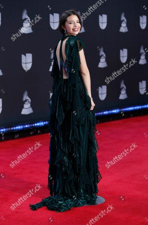 Angela Aguilar arrives at the 20th Latin Grammy Awards, at the MGM Grand Garden Arena in Las Vegas