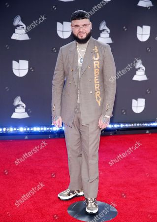 Farruko arrives at the 20th Latin Grammy Awards, at the MGM Grand Garden Arena in Las Vegas