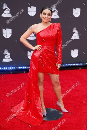 Stock Image of Ana Brenda Contreras arrives at the 20th Latin Grammy Awards, at the MGM Grand Garden Arena in Las Vegas