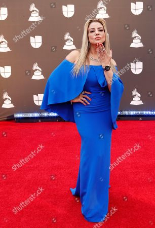 Lena Burke arrives for the 20th annual Latin Grammy Awards ceremony at the MGM Grand Garden Arena in Las Vegas, Nevada, USA, 14 November 2019. The Latin Grammys recognize artistic and/or technical achievement, not sales figures or chart positions, and the winners are determined by the votes of their peers - the qualified voting members of the Latin Recording Academy.
