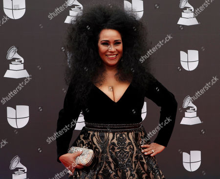 Aymee Nuviola arrives for the 20th annual Latin Grammy Awards ceremony at the MGM Grand Garden Arena in Las Vegas, Nevada, USA, 14 November 2019. The Latin Grammys recognize artistic and/or technical achievement, not sales figures or chart positions, and the winners are determined by the votes of their peers - the qualified voting members of the Latin Recording Academy.