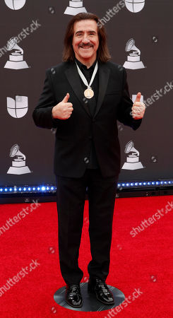 Stock Image of Luis Cobos arrives for the 20th annual Latin Grammy Awards ceremony at the MGM Grand Garden Arena in Las Vegas, Nevada, USA, 14 November 2019. The Latin Grammys recognize artistic and/or technical achievement, not sales figures or chart positions, and the winners are determined by the votes of their peers - the qualified voting members of the Latin Recording Academy.