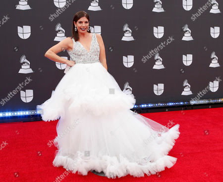 Stock Photo of Fernanda Kelly arrives for the 20th annual Latin Grammy Awards ceremony at the MGM Grand Garden Arena in Las Vegas, Nevada, USA, 14 November 2019. The Latin Grammys recognize artistic and/or technical achievement, not sales figures or chart positions, and the winners are determined by the votes of their peers - the qualified voting members of the Latin Recording Academy.