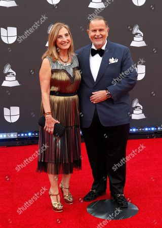 Millie de Molina (L) and Raul De Molina (R) arrive for the 20th annual Latin Grammy Awards ceremony at the MGM Grand Garden Arena in Las Vegas, Nevada, USA, 14 November 2019. The Latin Grammys recognize artistic and/or technical achievement, not sales figures or chart positions, and the winners are determined by the votes of their peers - the qualified voting members of the Latin Recording Academy.