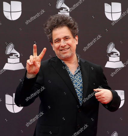 Stock Photo of Andres Calamaro arrives for the 20th annual Latin Grammy Awards ceremony at the MGM Grand Garden Arena in Las Vegas, Nevada, USA, 14 November 2019. The Latin Grammys recognize artistic and/or technical achievement, not sales figures or chart positions, and the winners are determined by the votes of their peers - the qualified voting members of the Latin Recording Academy.
