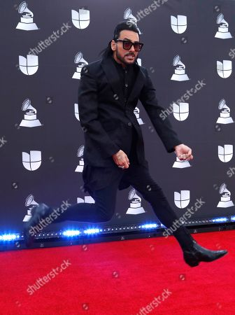Beto Cuevas arrives for the 20th annual Latin Grammy Awards ceremony at the MGM Grand Garden Arena in Las Vegas, Nevada, USA, 14 November 2019. The Latin Grammys recognize artistic and/or technical achievement, not sales figures or chart positions, and the winners are determined by the votes of their peers - the qualified voting members of the Latin Recording Academy.
