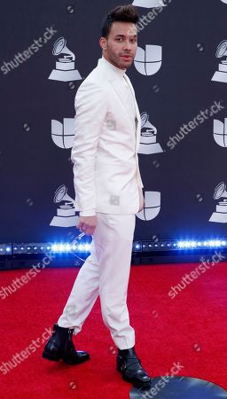 Prince Royce arrives for the 20th annual Latin Grammy Awards ceremony at the MGM Grand Garden Arena in Las Vegas, Nevada, USA, 14 November 2019. The Latin Grammys recognize artistic and/or technical achievement, not sales figures or chart positions, and the winners are determined by the votes of their peers - the qualified voting members of the Latin Recording Academy.