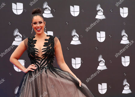 Aleyda Ortiz arrives for the 20th annual Latin Grammy Awards ceremony at the MGM Grand Garden Arena in Las Vegas, Nevada, USA, 14 November 2019. The Latin Grammys recognize artistic and/or technical achievement, not sales figures or chart positions, and the winners are determined by the votes of their peers - the qualified voting members of the Latin Recording Academy.