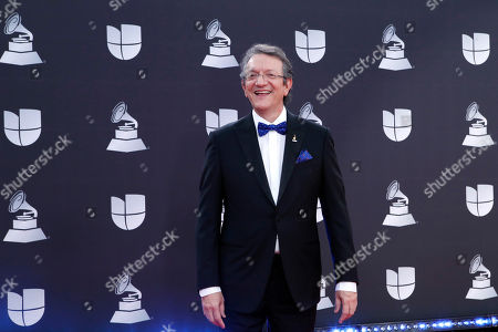 Stock Picture of Gabriel Abaroa Jr., arrives for the 20th annual Latin Grammy Awards ceremony at the MGM Grand Garden Arena in Las Vegas, Nevada, USA, 14 November 2019. The Latin Grammys recognize artistic and/or technical achievement, not sales figures or chart positions, and the winners are determined by the votes of their peers - the qualified voting members of the Latin Recording Academy.