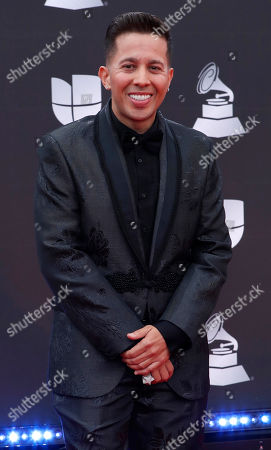 Stock Image of De La Ghetto arrives for the 20th annual Latin Grammy Awards ceremony at the MGM Grand Garden Arena in Las Vegas, Nevada, USA, 14 November 2019. The Latin Grammys recognize artistic and/or technical achievement, not sales figures or chart positions, and the winners are determined by the votes of their peers - the qualified voting members of the Latin Recording Academy.
