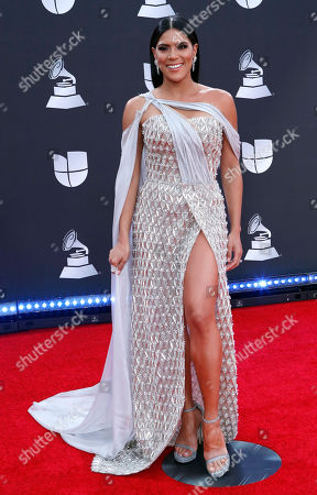 Stock Picture of Francisca Lachapel arrives for the 20th annual Latin Grammy Awards ceremony at the MGM Grand Garden Arena in Las Vegas, Nevada, USA, 14 November 2019. The Latin Grammys recognize artistic and/or technical achievement, not sales figures or chart positions, and the winners are determined by the votes of their peers - the qualified voting members of the Latin Recording Academy.