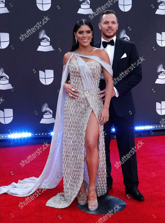 Stock Photo of Francisca Lachapel (L) and guest arrive for the 20th annual Latin Grammy Awards ceremony at the MGM Grand Garden Arena in Las Vegas, Nevada, USA, 14 November 2019. The Latin Grammys recognize artistic and/or technical achievement, not sales figures or chart positions, and the winners are determined by the votes of their peers - the qualified voting members of the Latin Recording Academy.