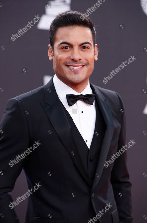 Carlos Rivera arrives for the 20th annual Latin Grammy Awards ceremony at the MGM Grand Garden Arena in Las Vegas, Nevada, USA, 14 November 2019. The Latin Grammys recognize artistic and/or technical achievement, not sales figures or chart positions, and the winners are determined by the votes of their peers - the qualified voting members of the Latin Recording Academy.