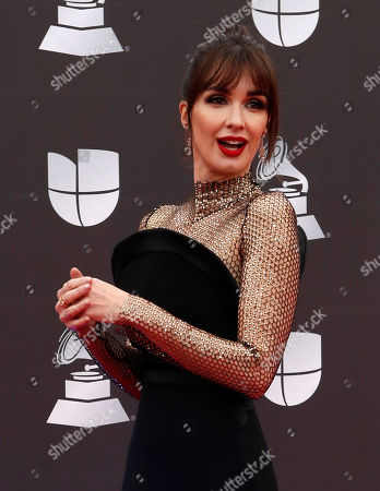Paz Vega arrives for the 20th annual Latin Grammy Awards ceremony at the MGM Grand Garden Arena in Las Vegas, Nevada, USA, 14 November 2019. The Latin Grammys recognize artistic and/or technical achievement, not sales figures or chart positions, and the winners are determined by the votes of their peers - the qualified voting members of the Latin Recording Academy.