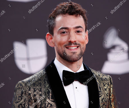 Stock Picture of Luis Gerardo Mendez arrives for the 20th annual Latin Grammy Awards ceremony at the MGM Grand Garden Arena in Las Vegas, Nevada, USA, 14 November 2019. The Latin Grammys recognize artistic and/or technical achievement, not sales figures or chart positions, and the winners are determined by the votes of their peers - the qualified voting members of the Latin Recording Academy.