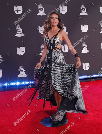 Stock Photo of Patricia Manterola arrives for the 20th annual Latin Grammy Awards ceremony at the MGM Grand Garden Arena in Las Vegas, Nevada, USA, 14 November 2019. The Latin Grammys recognize artistic and/or technical achievement, not sales figures or chart positions, and the winners are determined by the votes of their peers - the qualified voting members of the Latin Recording Academy.