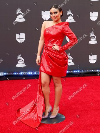 Ana Brenda Contreras arrives for the 20th annual Latin Grammy Awards ceremony at the MGM Grand Garden Arena in Las Vegas, Nevada, USA, 14 November 2019. The Latin Grammys recognize artistic and/or technical achievement, not sales figures or chart positions, and the winners are determined by the votes of their peers - the qualified voting members of the Latin Recording Academy.
