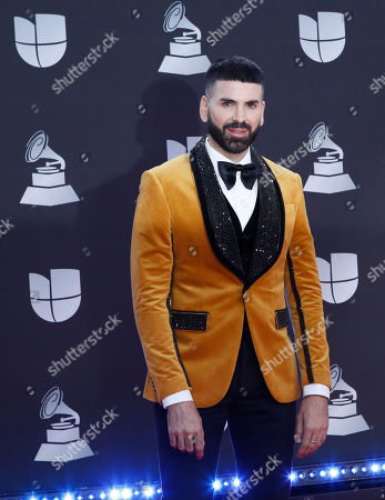 Spanish journalist Jomari Goyso arrives for the 20th annual Latin Grammy Awards ceremony at the MGM Grand Garden Arena in Las Vegas, Nevada, USA, 14 November 2019. The Latin Grammys recognize artistic and/or technical achievement, not sales figures or chart positions, and the winners are determined by the votes of their peers - the qualified voting members of the Latin Recording Academy.