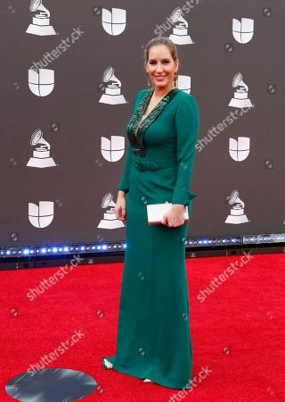 Maria Toledo arrives for the 20th annual Latin Grammy Awards ceremony at the MGM Grand Garden Arena in Las Vegas, Nevada, USA, 14 November 2019. The Latin Grammys recognize artistic and/or technical achievement, not sales figures or chart positions, and the winners are determined by the votes of their peers - the qualified voting members of the Latin Recording Academy.