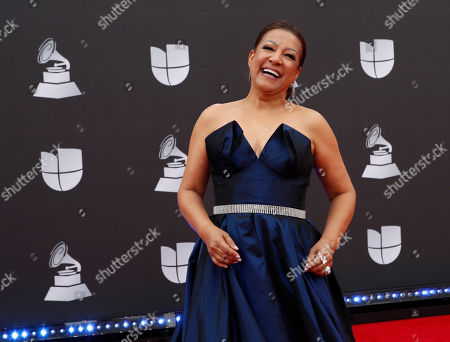 Milly Quezada arrives for the 20th annual Latin Grammy Awards ceremony at the MGM Grand Garden Arena in Las Vegas, Nevada, USA, 14 November 2019. The Latin Grammys recognize artistic and/or technical achievement, not sales figures or chart positions, and the winners are determined by the votes of their peers - the qualified voting members of the Latin Recording Academy.