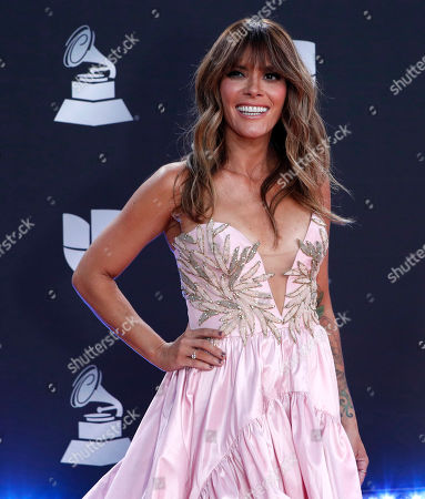 Kany Garcia arrives for the 20th annual Latin Grammy Awards ceremony at the MGM Grand Garden Arena in Las Vegas, Nevada, USA, 14 November 2019. The Latin Grammys recognize artistic and/or technical achievement, not sales figures or chart positions, and the winners are determined by the votes of their peers - the qualified voting members of the Latin Recording Academy.