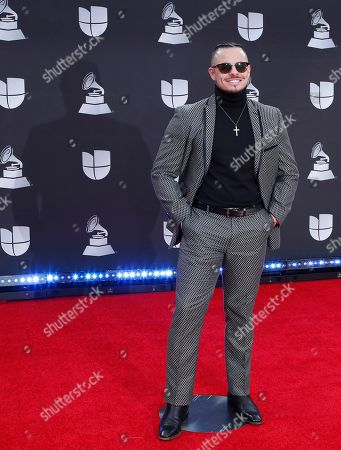 Casper Smart arrives for the 20th annual Latin Grammy Awards ceremony at the MGM Grand Garden Arena in Las Vegas, Nevada, USA, 14 November 2019. The Latin Grammys recognize artistic and/or technical achievement, not sales figures or chart positions, and the winners are determined by the votes of their peers - the qualified voting members of the Latin Recording Academy.
