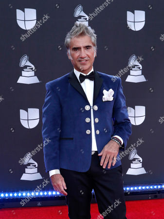 Stock Photo of Alejandro Fernandez arrives for the 20th annual Latin Grammy Awards ceremony at the MGM Grand Garden Arena in Las Vegas, Nevada, USA, 14 November 2019. The Latin Grammys recognize artistic and/or technical achievement, not sales figures or chart positions, and the winners are determined by the votes of their peers - the qualified voting members of the Latin Recording Academy.