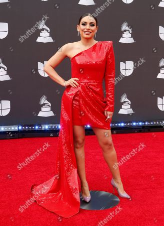 Stock Photo of Ana Brenda Contreras arrives for the 20th annual Latin Grammy Awards ceremony at the MGM Grand Garden Arena in Las Vegas, Nevada, USA, 14 November 2019. The Latin Grammys recognize artistic and/or technical achievement, not sales figures or chart positions, and the winners are determined by the votes of their peers - the qualified voting members of the Latin Recording Academy.