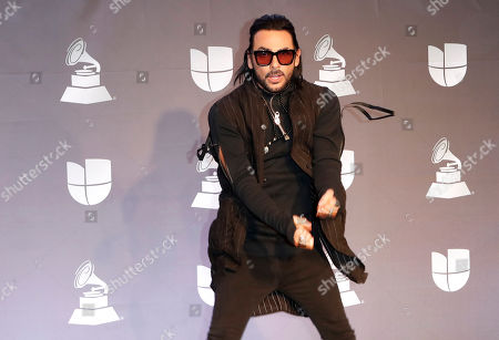 Performer Beto Cuevas poses in the press room during the 20th annual Latin Grammy Awards ceremony at the MGM Grand Garden Arena in Las Vegas, Nevada, USA, 14 November 2019. The Latin Grammys recognize artistic and/or technical achievement, not sales figures or chart positions, and the winners are determined by the votes of their peers - the qualified voting members of the Latin Recording Academy.