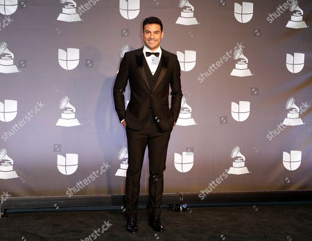 Performer Carlos Rivera poses in the press room during the 20th annual Latin Grammy Awards ceremony at the MGM Grand Garden Arena in Las Vegas, Nevada, USA, 14 November 2019. The Latin Grammys recognize artistic and/or technical achievement, not sales figures or chart positions, and the winners are determined by the votes of their peers - the qualified voting members of the Latin Recording Academy.