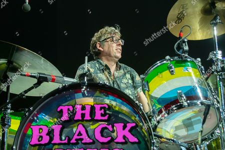 Patrick Carney of the Black Keys performs at the Frank Erwin Center.
