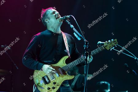 Stock Picture of Singer-songwriter Isaac Brock of Modest Mouse performs at the Frank Erwin Center.