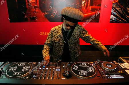 Don Letts, film director, videographer of The Clash, member of Big Audio Dynamite and DJ, performs as guest DJ at the Museum of London reception for the opening of the 40th Anniversary of The Clash London Calling album exhibition, in London