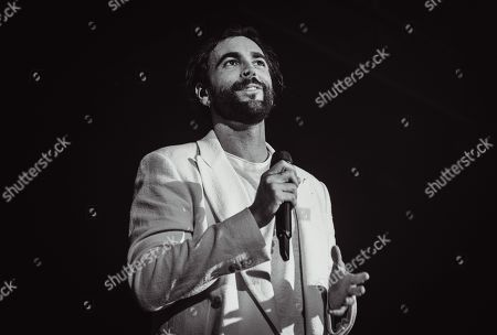 Marco Mengoni performs during his 'Atlantico' tour.