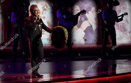 Alejandro Fernandez performs a medley at the 20th Latin Grammy Awards, at the MGM Grand Garden Arena in Las Vegas