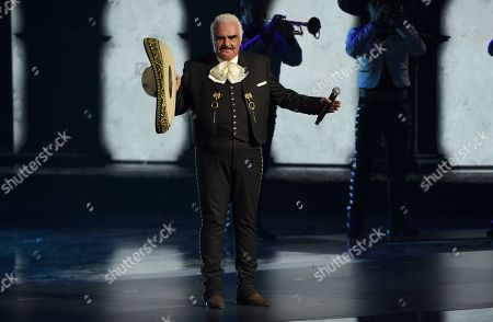 Vicente Fernandez performs a medley at the 20th Latin Grammy Awards, at the MGM Grand Garden Arena in Las Vegas
