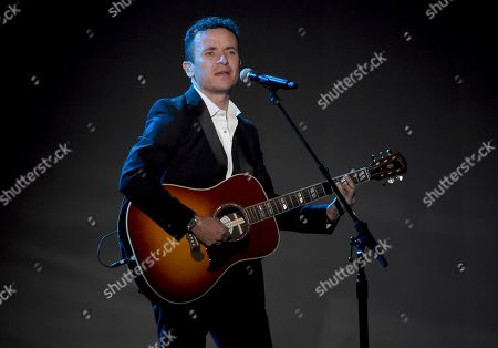 Stock Photo of Fonseca performs a tribute to Camilo Sesto at the 20th Latin Grammy Awards, at the MGM Grand Garden Arena in Las Vegas