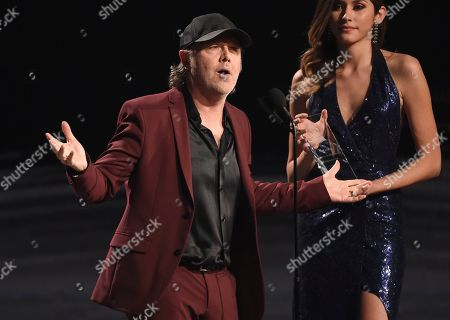Lars Ulrich of Metallica presents the award for person of the year at the 20th Latin Grammy Awards, at the MGM Grand Garden Arena in Las Vegas