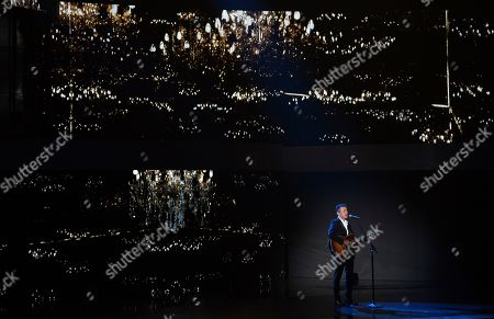 Fonseca performs a tribute to Camilo Sesto at the 20th Latin Grammy Awards, at the MGM Grand Garden Arena in Las Vegas