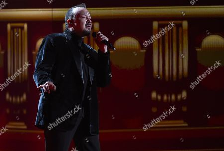 Pepe Aguilar performs a tribute to Jose Jose at the 20th Latin Grammy Awards, at the MGM Grand Garden Arena in Las Vegas