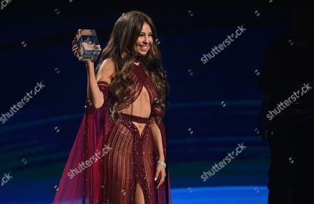 Thalia accepts the president's award at the 20th Latin Grammy Awards, at the MGM Grand Garden Arena in Las Vegas