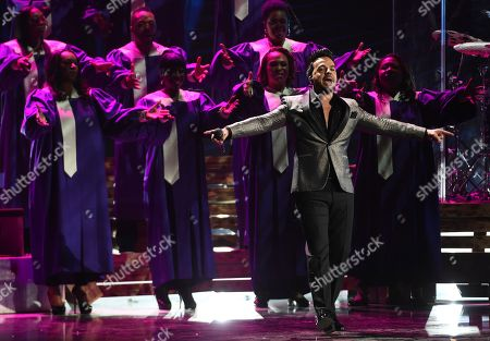 Luis Fonsi performs a medley at the 20th Latin Grammy Awards, at the MGM Grand Garden Arena in Las Vegas