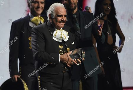Vicente Fernandez accepts the president's award at the 20th Latin Grammy Awards, at the MGM Grand Garden Arena in Las Vegas